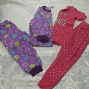 Lot of 2 Girls Pyjamas Size  4